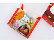 Custom design printing Christmas foldable flat pack gift boxes  with portable bags