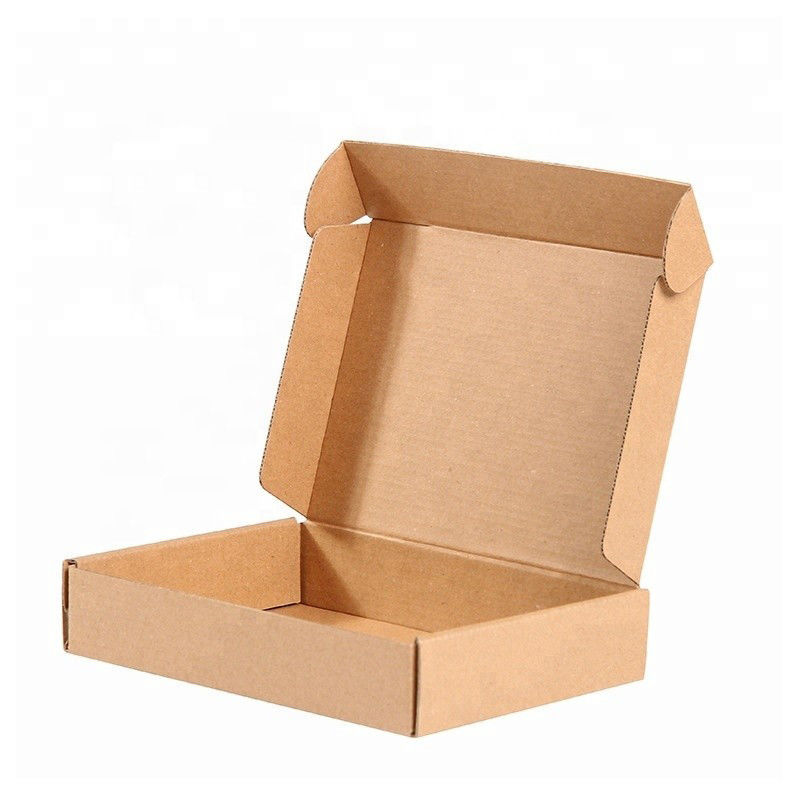 Durable corrugated cardboard boxes in various colors and sizes Brown packaging boxes