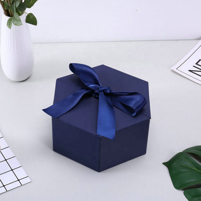 Personalized Cardboard small cosmetic box  printing logo  gift box with ribbon